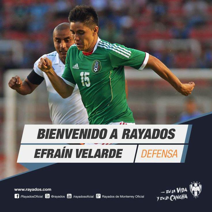 Efraín Velarde es nuevo refuerzo de #Rayados para el Apertura 2014 de la @Liga Bancomer MX