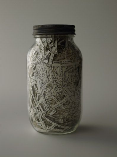 book in a jar- contest to guess the book, in the Teen Space now!