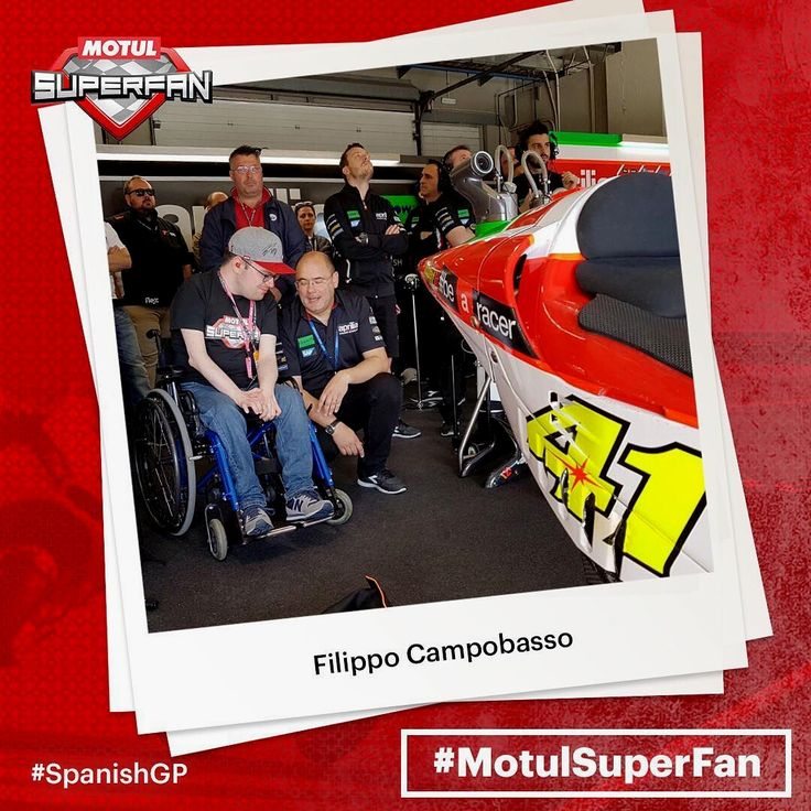 #MotulSuperFan @campobassofilippo in amongst the action, watching the #SpanishGP from inside the @aprilia_official garage! // Want the chance to have the experience of a lifetime? Use #MotulSuperFan & explain to us why you should be picked as an exclusive 2017 guest at a #MotoGP event! @motul  Repost by @motogp