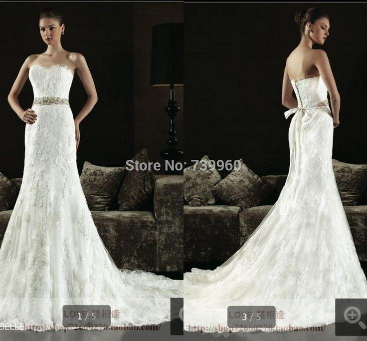 Высокое качество русалка труба белый аппликации милая суд поезд высокое качество свадебные платья из бисера пояса свадебные платья