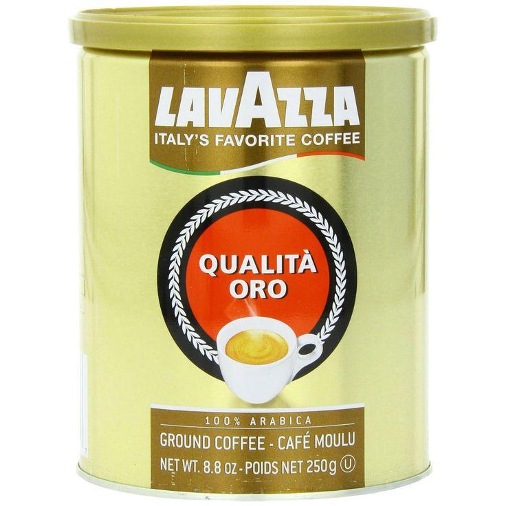 Lavazza Premium Coffee - Qualita Oro - 100 Arabica Ground Coffee - 8.8oz Canister