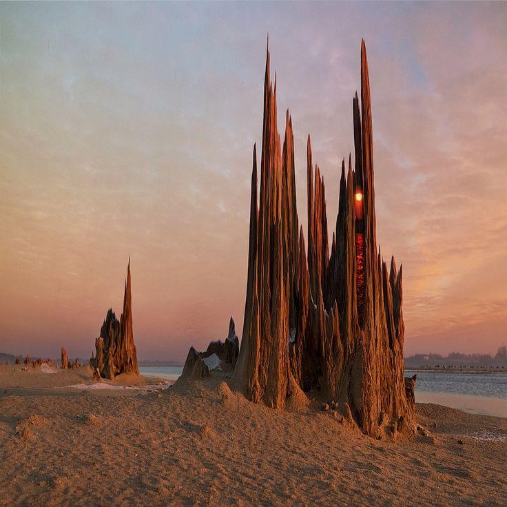 Katedra / Fotoklimat / Fotografia / Konceptualna surrealizm, fotomontaż, fotografia, fantazja, fantasy, katedra, budynek, kolor