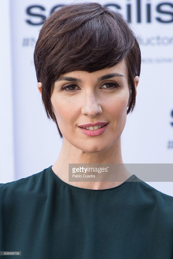 Spanish actress Paz Vega is presented as de new ambassador of Sensilis at the Santa Barbara Palace on February 5, 2016 in Madrid, Spain.