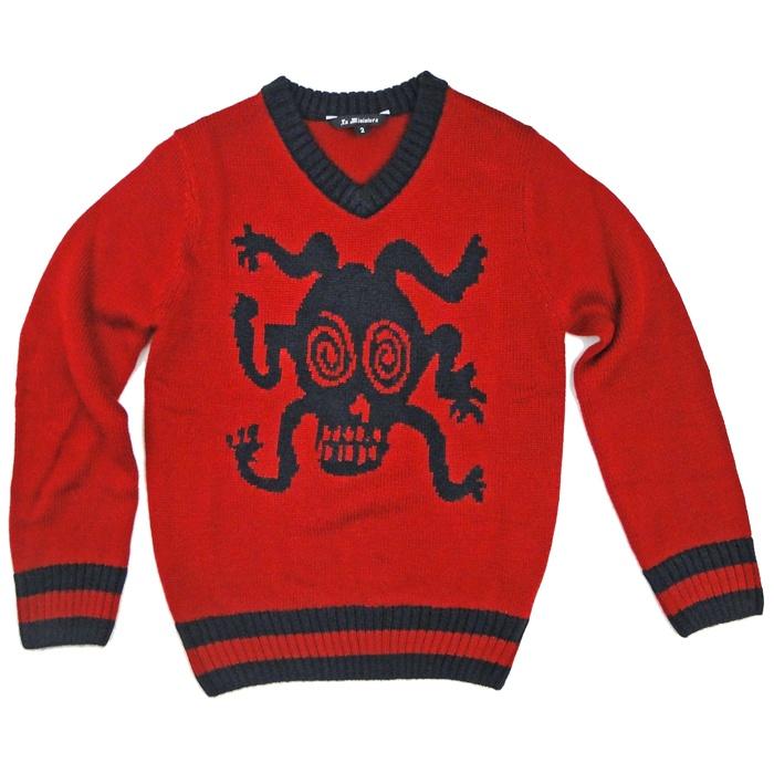 Skull V-Neck Sweater by La MiniaturaSkull Sweater