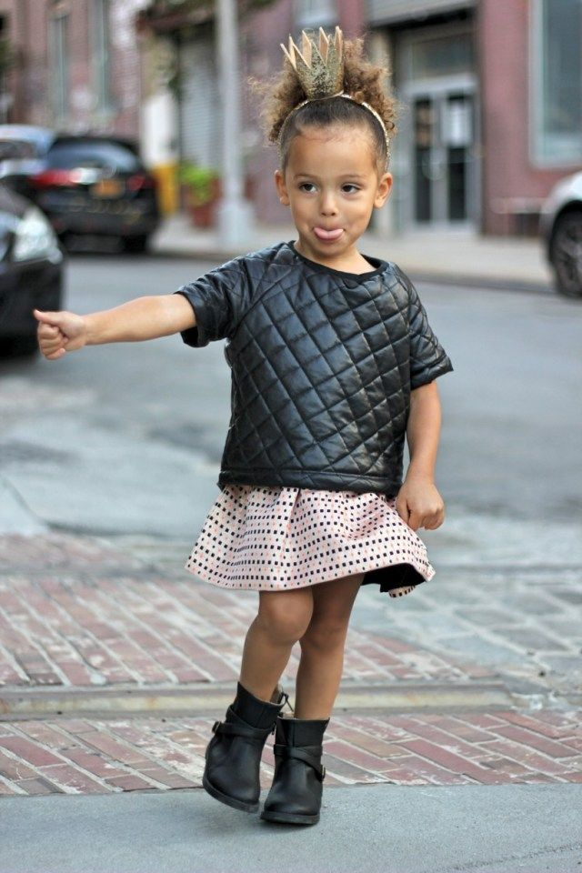 Princess London Scout wears our jacquard skirt in NYC