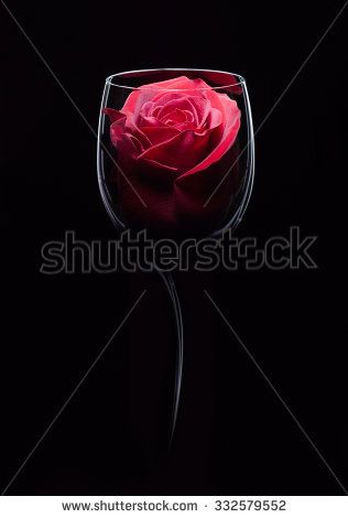 Red wine in wineglass. Concept