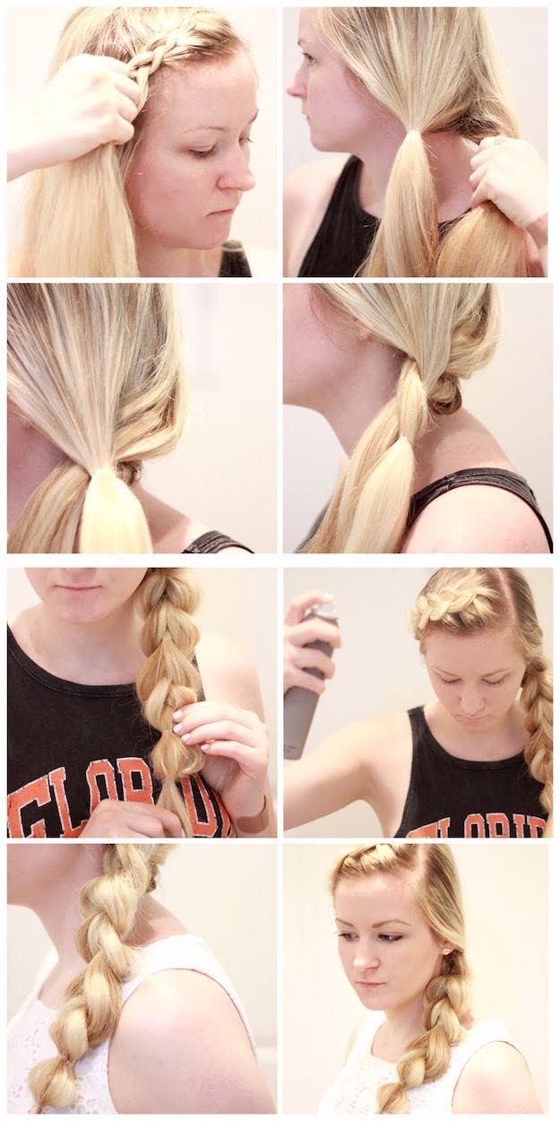 Glam Ponytail Tutorials - LIVING PROOF + BUBBLE BRAID- Simple Hairstyles and Pony Tails, Messy Buns, Dutch Braids and Top Knot Updo Looks - With and Without Bobby Pins - Awesome Looks for Short Hair and Girls with Curls - thegoddess.com/glam-ponytail-tutorials