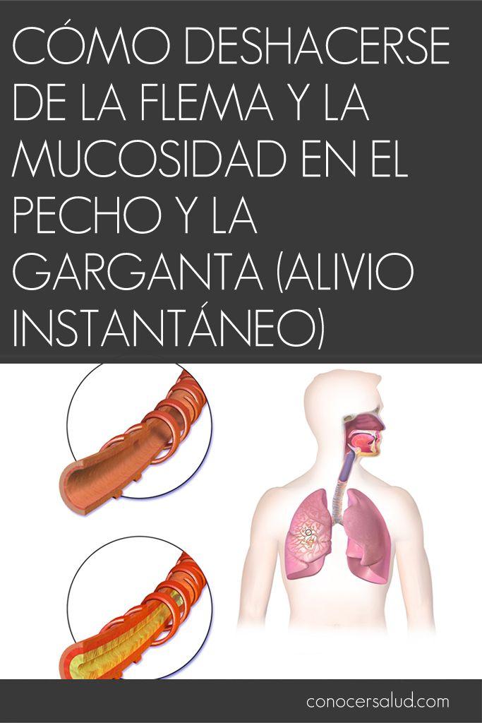 Cómo deshacerse de la flema y la mucosidad en el pecho y la garganta (alivio instantáneo) #salud