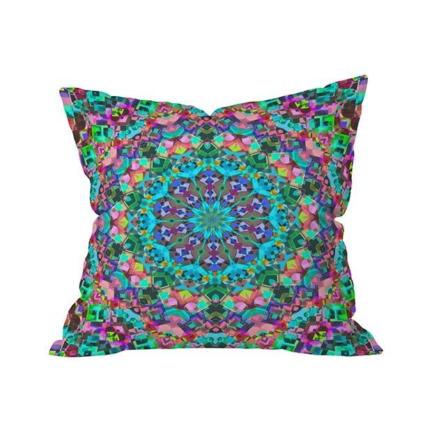 It's a piece fit for a gallery, but fortunately for you, the Kaleidoscope Outdoor Throw Pillow is available as an accent for your garden or patio entertainment venue. And what a statement it will make....  Find the Kaleidoscope Outdoor Throw Pillow, as seen in the Outdoor Pillow Sale Collection at http://dotandbo.com/collections/outdoor-pillow-sale?utm_source=pinterest&utm_medium=organic&db_sku=105561
