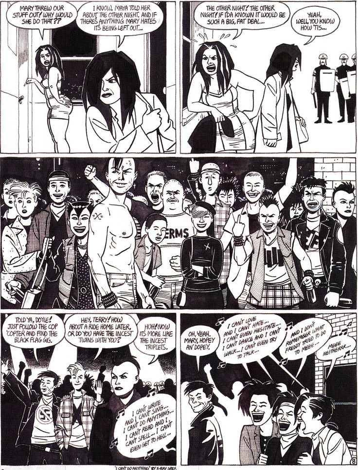 "Jaime HERNANDEZ - Original art for ""Wigwam Bam"" Love and Rockets no. 33 - 1990 Fantagraphics"