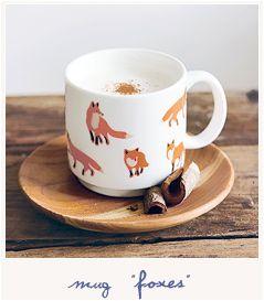 * Nature mug - foxes