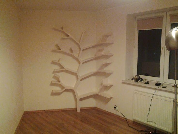 Półka drzewo 210x130 w  bardzo nietypowej realizacji