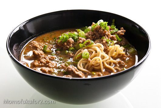 Tan tan noodle soup. (Spicy ground pork noodle soup.  A personal favorite. Can't wait to try this recipe at home!