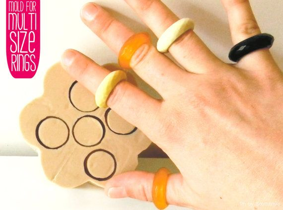 Mold for Multifaceted band Ring Multisize by OHMYMOLD on Etsy, €24.50