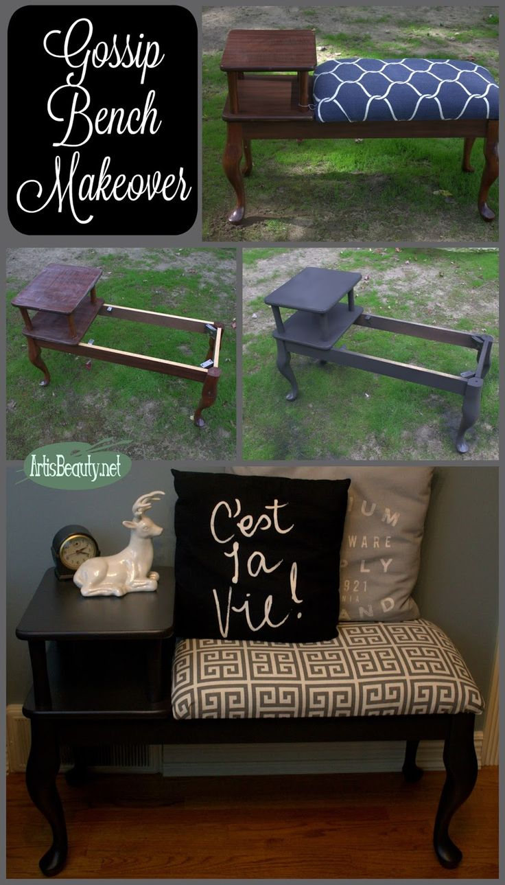 ART IS BEAUTY  Gossip Bench Classic Makeover  Themed Furniture Makeover
