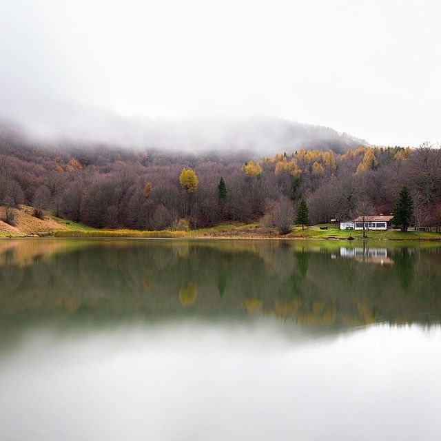 Nebbia al lago di Calamone