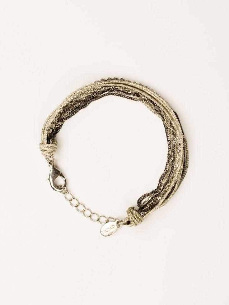 Еще один бестселлер от Sogoli. Актуальный браслет, состоящий из цепочек, нити кристаллов и шелковой тесьмы, будет отлично сочетаться с вашими часами или дополнять другие браслеты. Миксуйте и экспериментируйте!