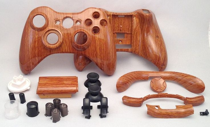 Wood Grain Hydro Dipped Xbox 360 Controller Shell Kit