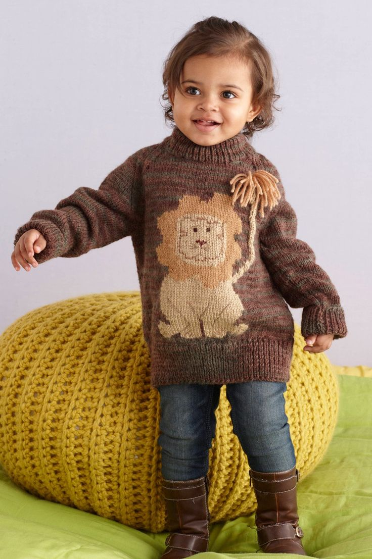 Lion Pullover Pattern (Knit)