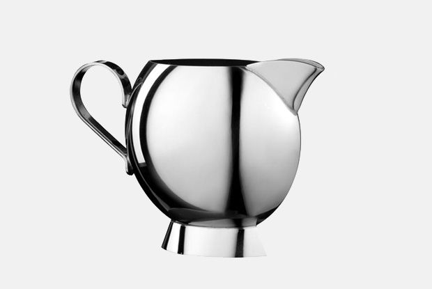 Sunfish Cream Jug  http://www.nickmunro.com/shop/tea-and-coffee/  Sunfish cream jug made from 18/10 polished stainless steel with an insulated steel handle. Non-drip spout. Dishwasher safe.  Dimensions:  Capacity: 150 ml  Height: 9.5 cm  Diameter:  6 cm