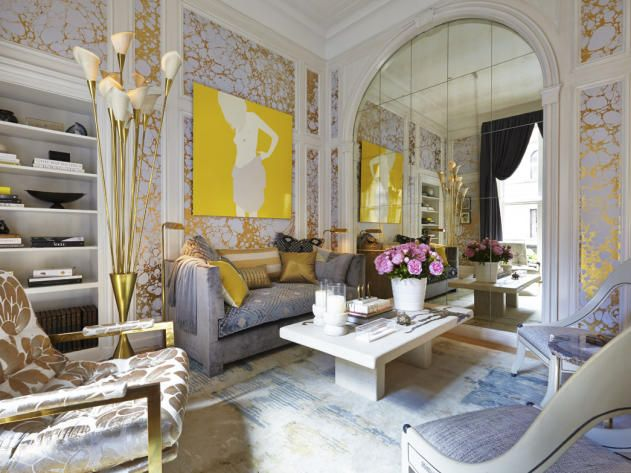 Parlor of the 42nd Annual Kips Bay Decorator Show House in NYC