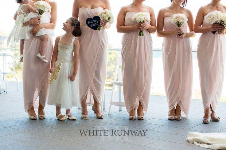 Adrietta Dress in Pink #whiterunway #bridesmaids #pink #strapless #weddings
