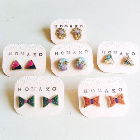 HOMAKO 刺繍ピアス