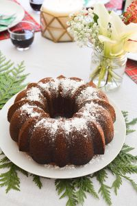 Wine Cake isn't just a holiday dessert! This cake, with Sherry wine, vanilla pudding powder and boxed cake mix works any time of the year!
