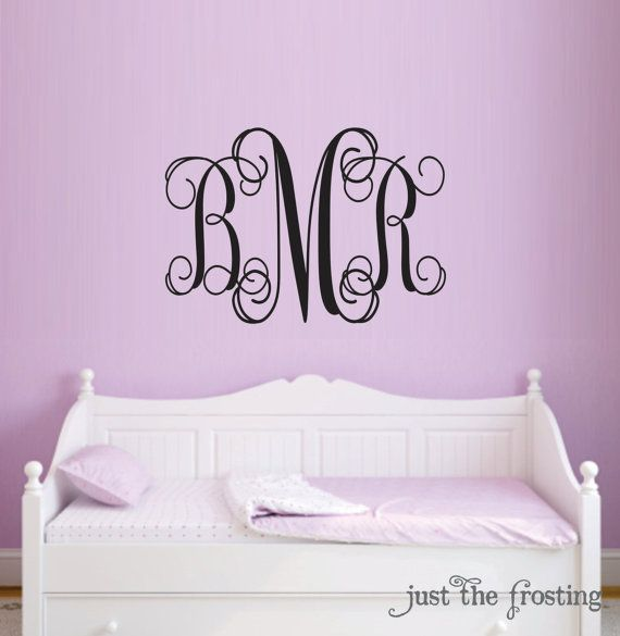 Monogram Decal Baby Nursery Wall Decals Teen by JustTheFrosting