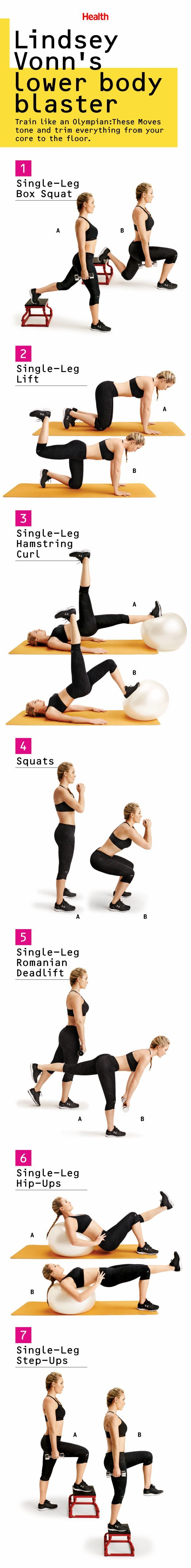 This lower-body workout torches calories and builds muscle in all the right places. Follow along for simple but effective moves that you can do to tone your lower body. | Health.com