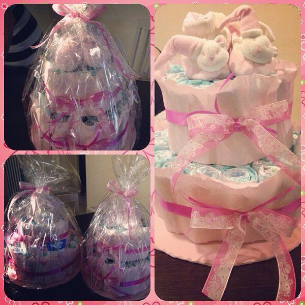Diapers cake per la nascita di Olivia e Olimpia!