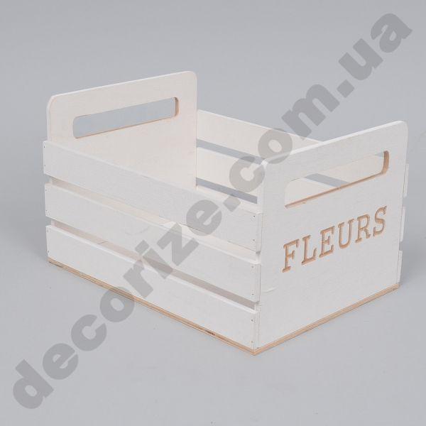Ящик деревянный белый для флористики. Всего 65грн