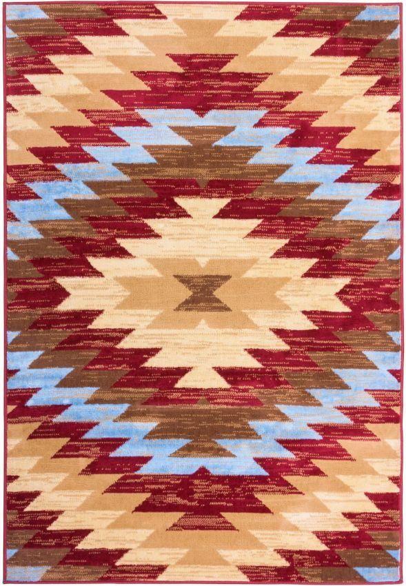 Alamo Southwestern Red Southwestern Rug