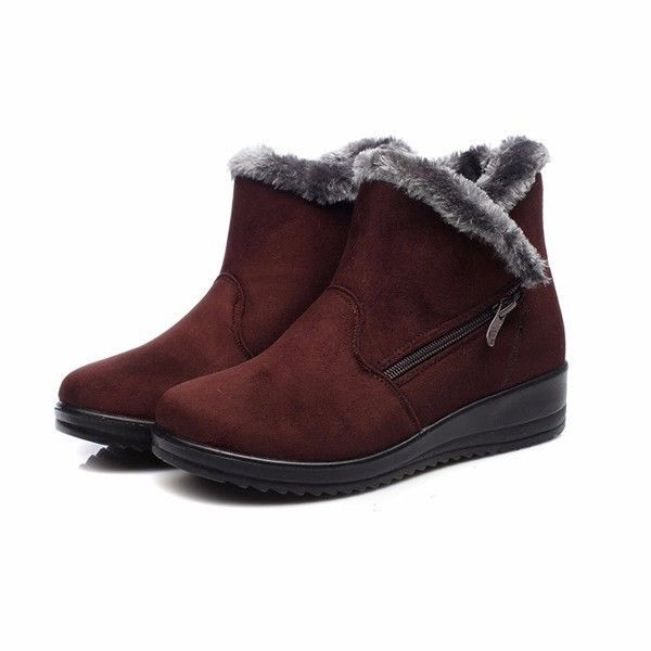 New Women Suede Winter Boots Round Toe Ankle Short Snow Boot US Size 6 - 10 #Unbranded #AnkleBoots #Casual