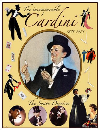 Richard Valentine Pitchford (November 24, 1895 – November 13, 1973) was a master magician under the name Cardini, whose career spanned almost half a century. Description from thesorcererscabinet.blogspot.com. I searched for this on bing.com/images