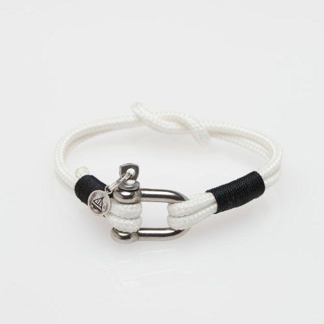 Fancy - Knotted Shackle Bracelet by JLK: Nautical Style, Shackl Bracelets, White Knot, Men Fashion, Jlk White, Accessories Arquiv, Jlk Knot, Knot Shackl, Bows Shackl