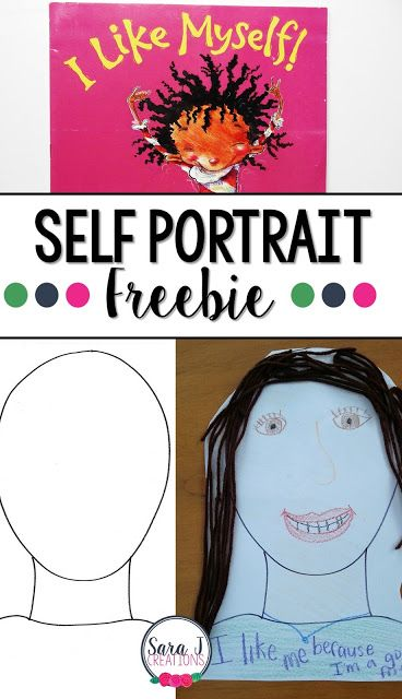 Celebrating Differences with Self Portraits   At the beginning of the school year I like to focus on community building and celebrating each child as an individual. Using the book I Like Myself I have students celebrate what they like about themselves and create a self portrait. Find more directions and the head template HERE.   back to school back to school crafts classroom decor I Like Myself PreK-2 Sara J Sara J Creations self portrait