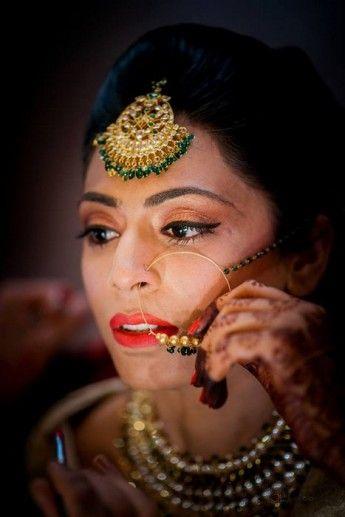 Bridal Nose Rings | WedMeGood #wedmegood #noserings