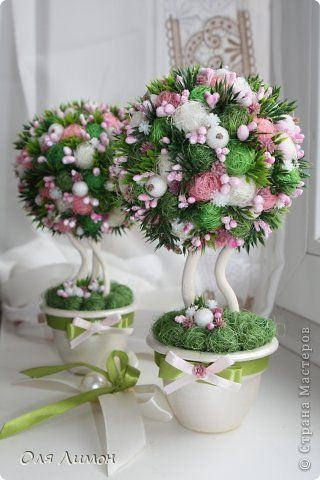 """""""Розовый бонсай"""" или новые задумки для топиария =)"""