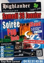 GAP - 26 janvier - 21h30 - SHAST - Soirée Pop Rock, spéciale Ecosse - Pub's Highlander - Restauration à partir de 19h