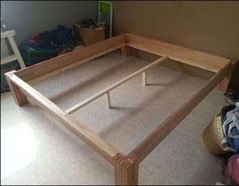 die besten 25 holzbett selber bauen ideen auf pinterest. Black Bedroom Furniture Sets. Home Design Ideas