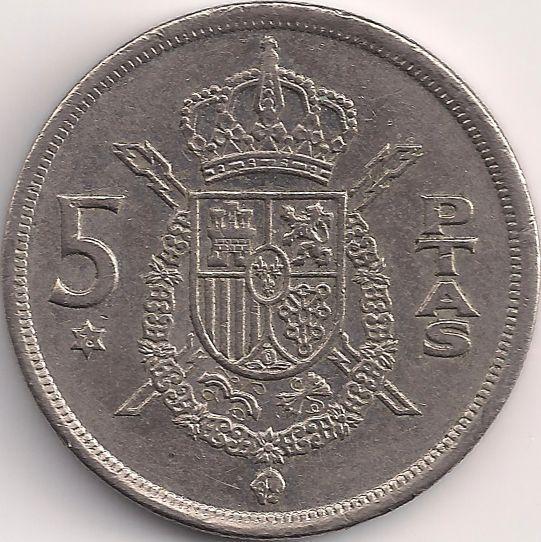 Wertseite: Münze-Europa-Südeuropa-Spanien-Peseta-5.00-1975-Juan Carlos