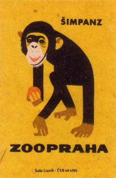 Chimp. Vintage Matchbook Art. so many more at link.