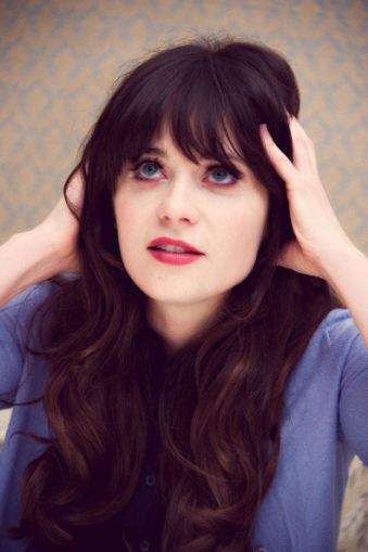 Zooey Deschanel- give me this hair ugh