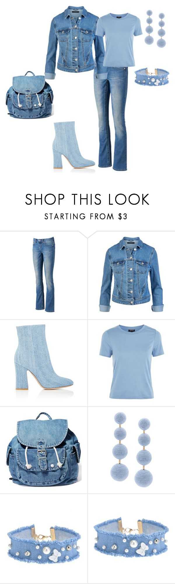 """""""Untitled #173"""" by ognevaira ❤ liked on Polyvore featuring Seven7 Jeans, Gianvito Rossi, Topshop, Dance & Marvel and Rebecca de Ravenel"""