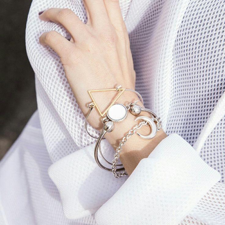 Silver Bracelets ✨ #twininas #jewelry #silver #bangle #bracelets