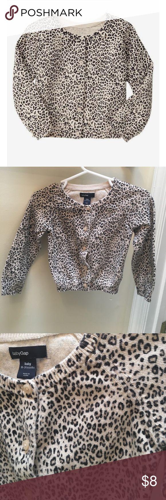 Baby Gap Cheetah Print Cardigan Baby Gap Cheetah Print Cardigan. Only worn a few times GAP Shirts & Tops Sweaters