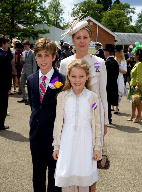 Wombat and Squeak:  Serena Armstrong-Jones (Viscountess Linley), and her two children Hon. Charles Armstrong-Jones and Hon. Margarita Armstrong Jones, grandchildren of the late Princess Margaret. Margarita was also a bridesmaid at TRH The Duke and Duchess of Cambridge's wedding in 2011.