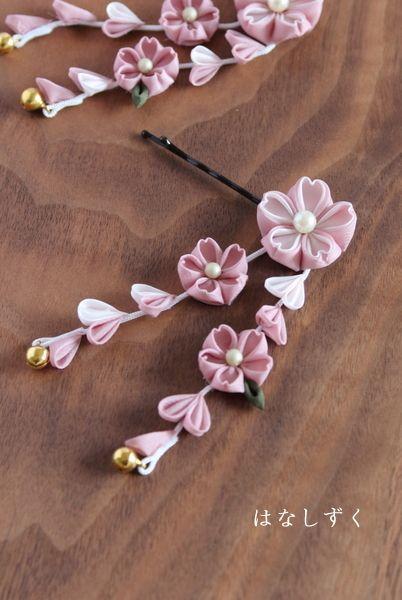 櫻花系列歸因於運氣髮夾粉紅(按訂單生產)