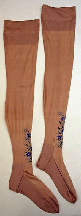 Stockings  Date: 1920s Culture: French Medium: silk